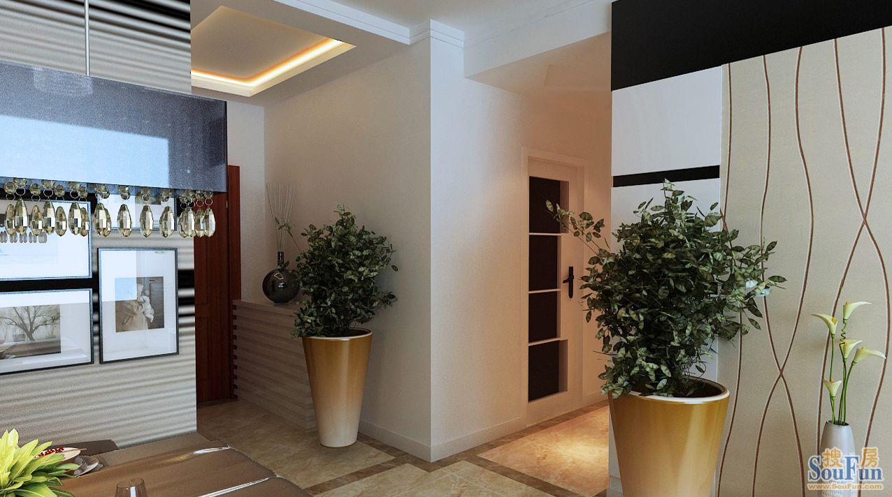 88平2室1厅 现代简约风格装修案例 预算2.1万元