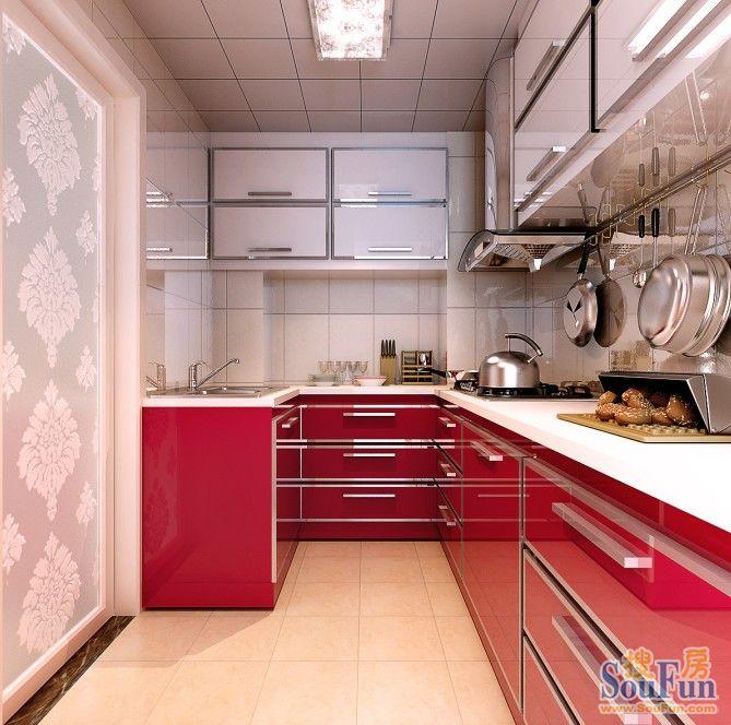 程庄南里-二居室-77㎡-厨房装修效果图