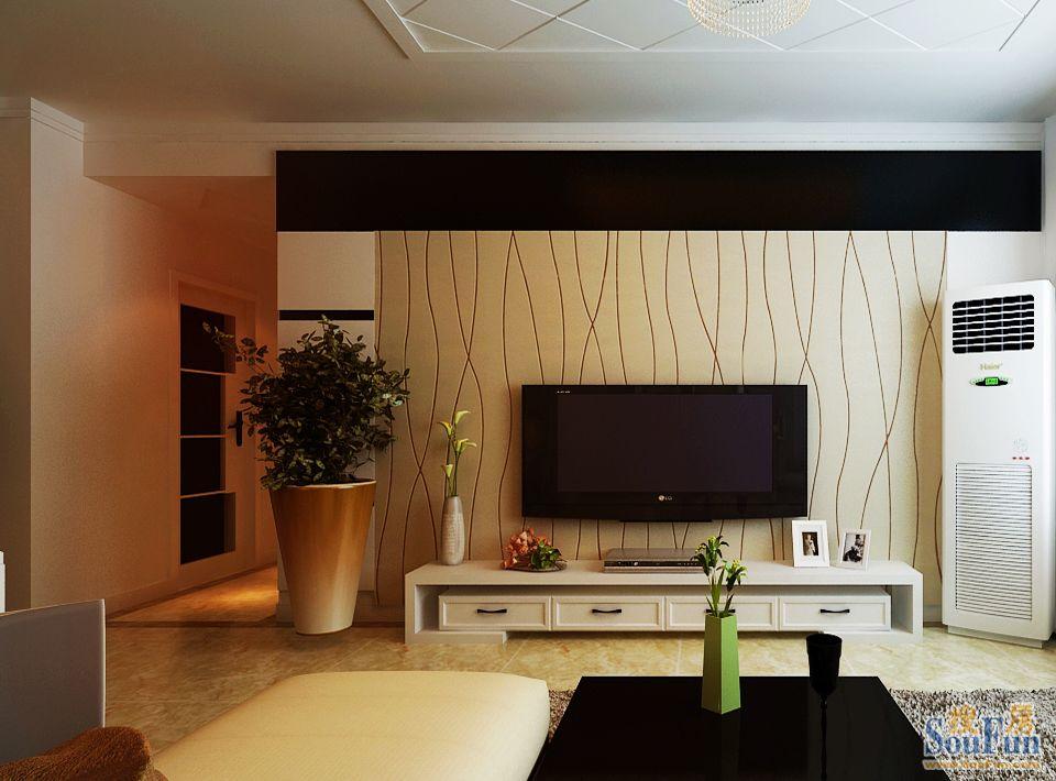 88平2室1厅 现代简约风格装修案例 预算2.1万元高清图片