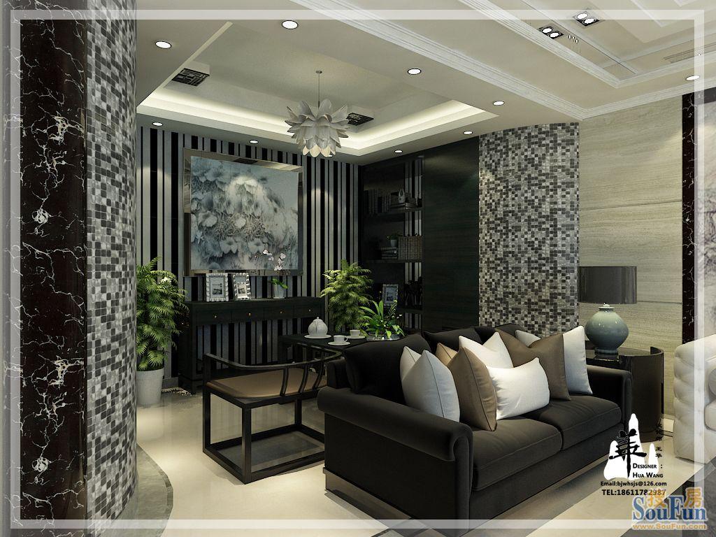 金隅长安山麓-四居室-380㎡-客厅装修效果图高清图片