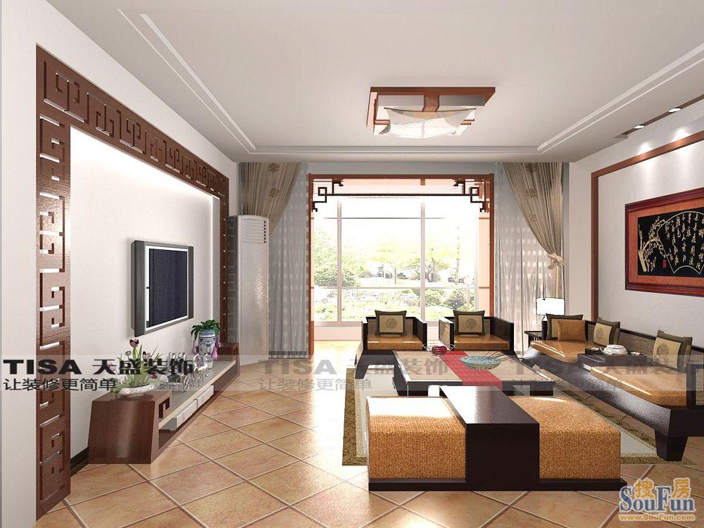 润枫领尚-四居室-190㎡-客厅装修效果图