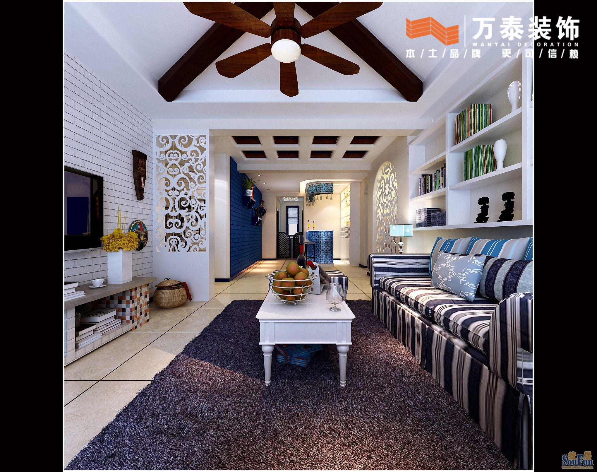 110平3室2厅 现代简约风格装修案例 预算3.5万元高清图片
