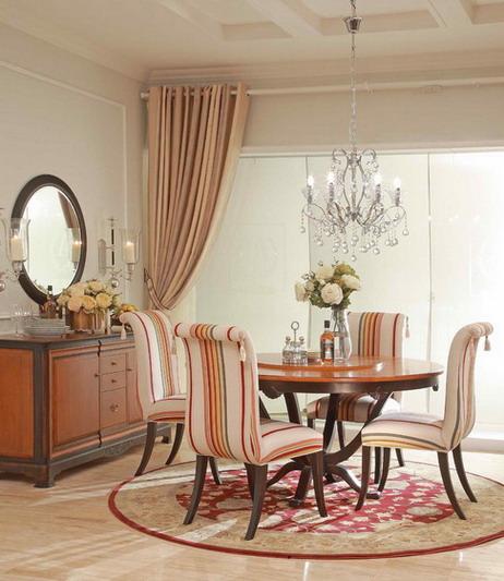 亚振家具l2复古系列餐桌 欧式风格图片