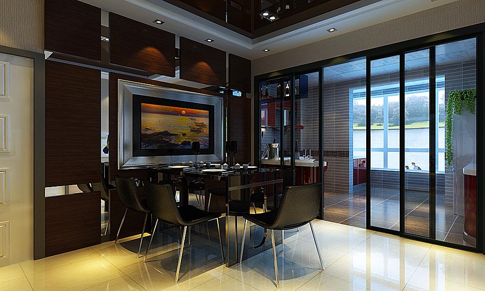 现代简约三居室140平米9万_天通·公园里装修案例-房