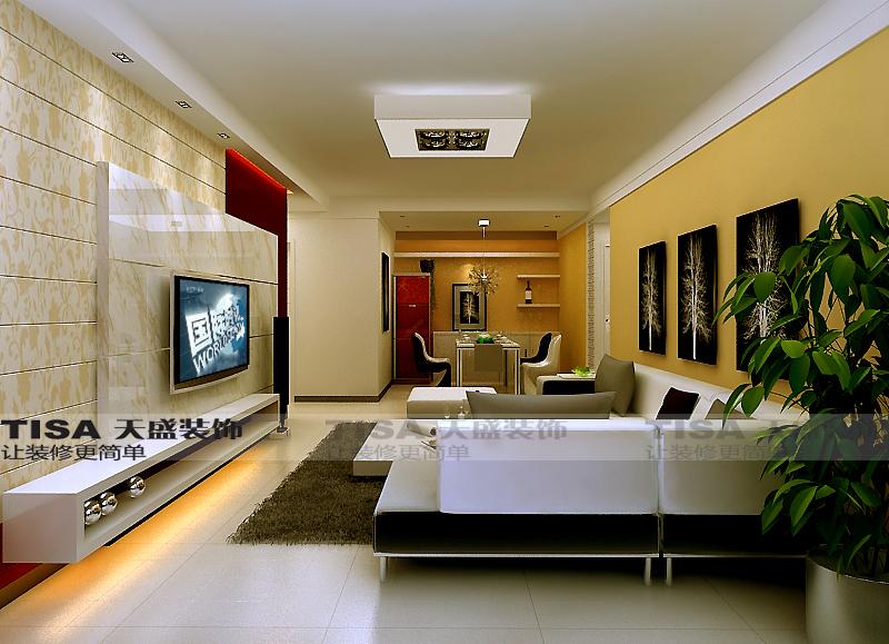 88平2室1厅 简欧风格装修案例 预算6.5万元高清图片