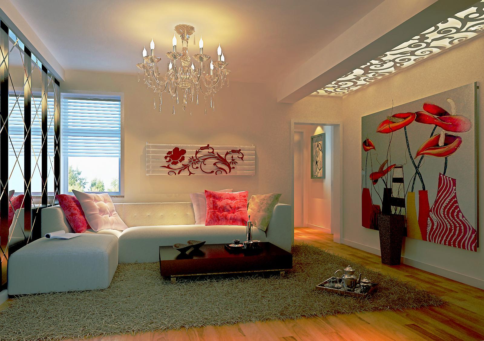 90平3室1厅 现代欧式风格装修案例 预算6.3万元 高清图片