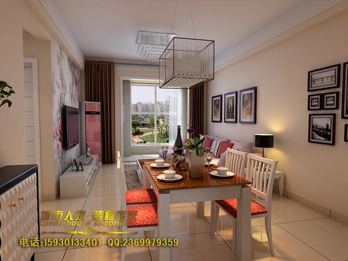 88平2室2厅 现代简约风格装修案例 预算7.6万元 高清图片