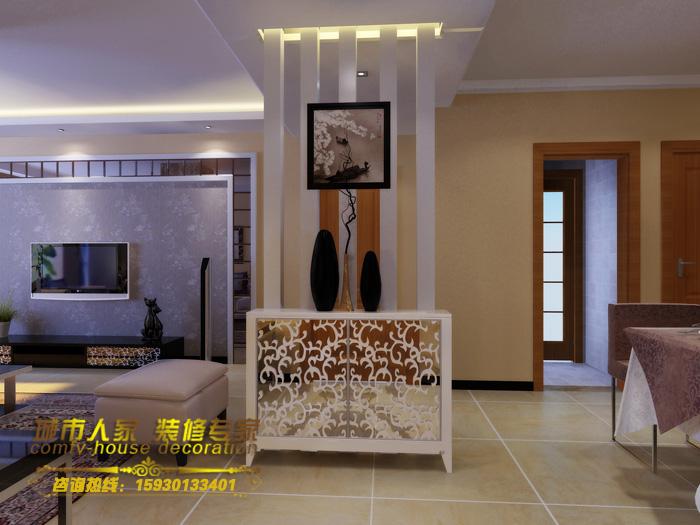 88平2室2厅 现代简约风格装修案例 预算7.3万元 高清图片