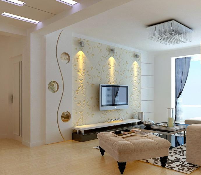 92平2室2厅 现代简约风格装修案例 预算3万元高清图片