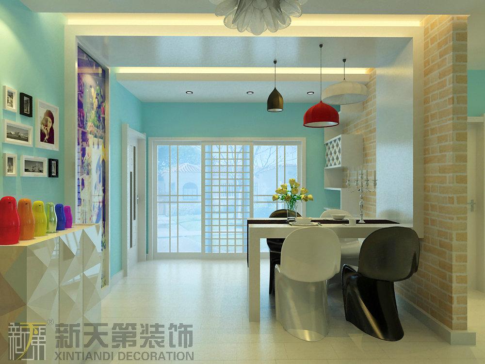华府-三居室-130㎡-餐厅装修效果图-130平3室2厅 现代简约风格装修高清图片