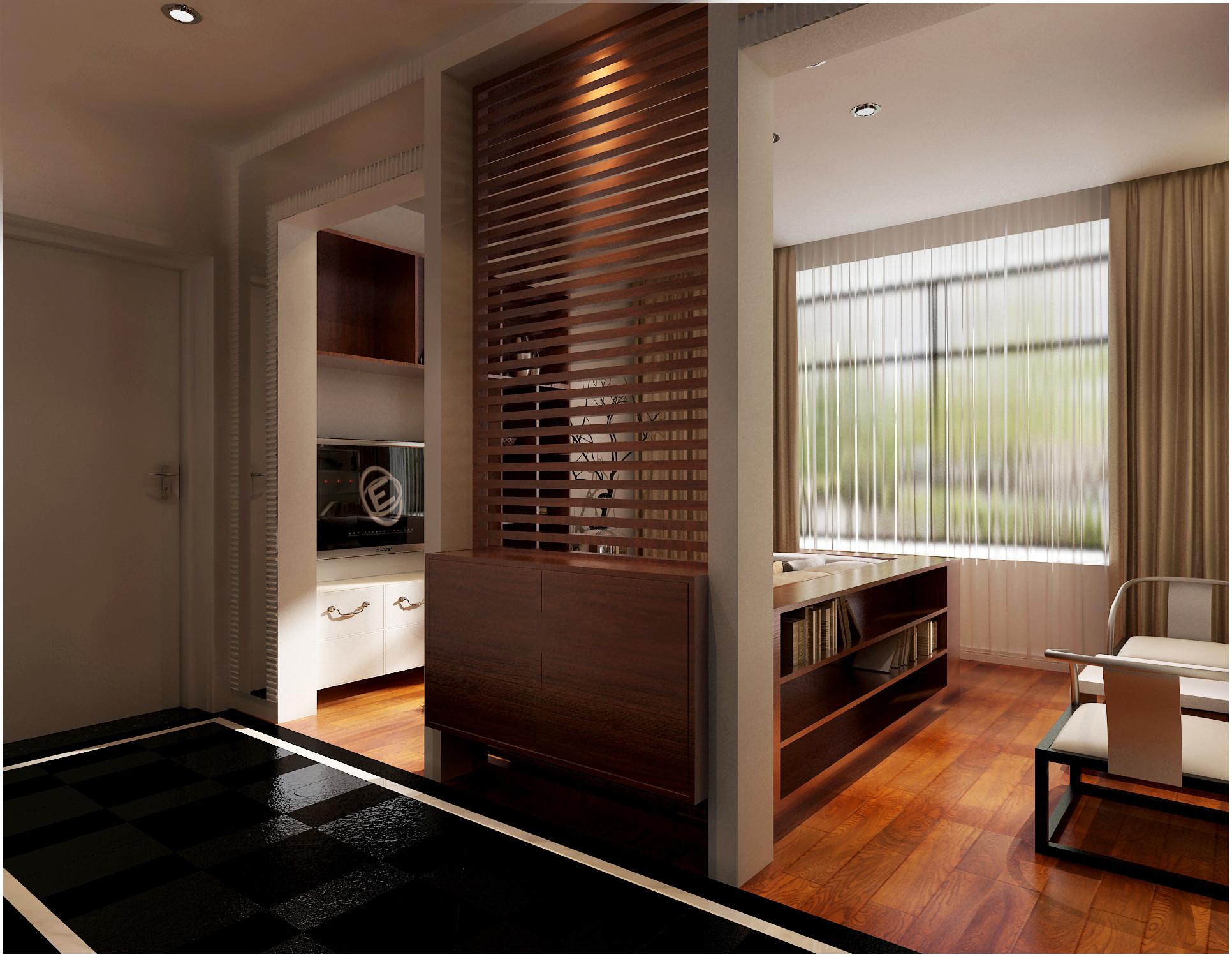 客厅装修设计_三居室_现代简约图片