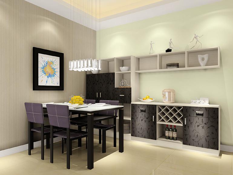 中信城-三居室-119㎡-客厅装修效果图-119平3室2厅 现代简约风格装修高清图片