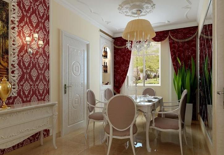 北京城建·红木林-二居室-71㎡-餐厅装修效果图-71平2室2厅 现代简约高清图片