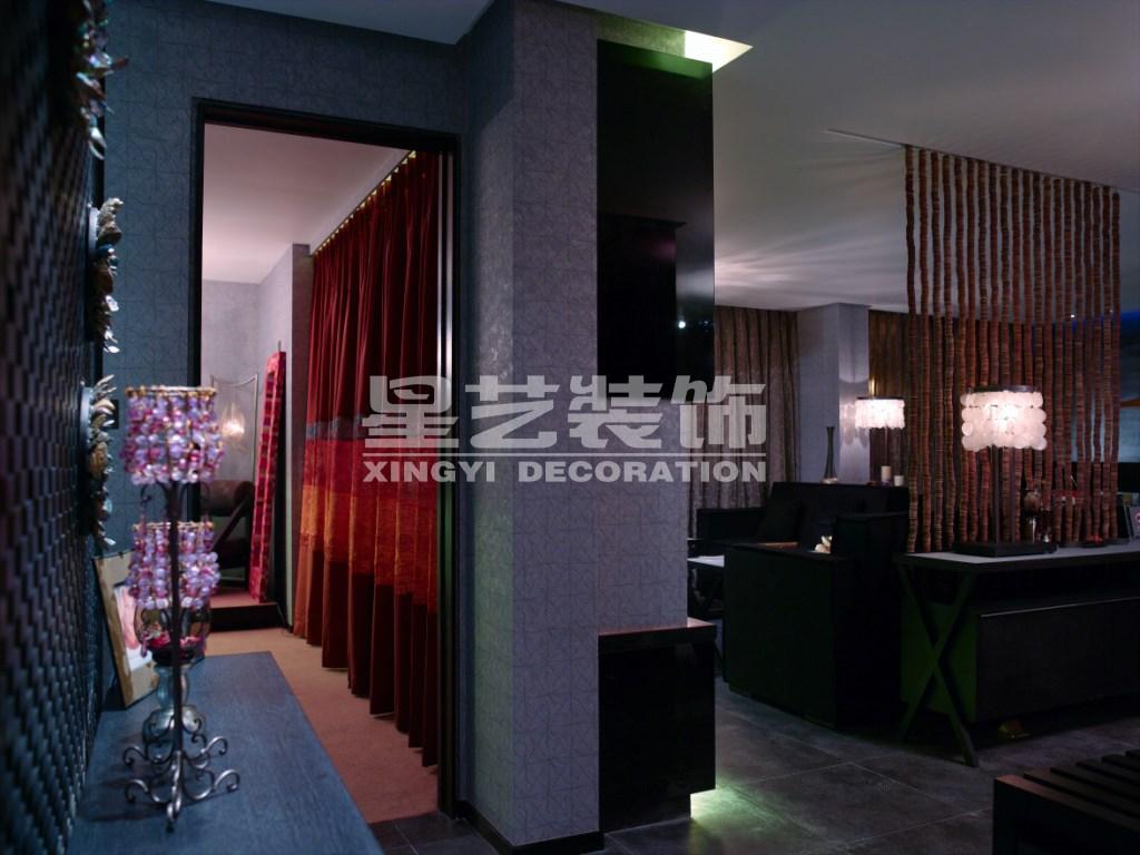 时代奥城酒店式公寓-东南亚风格-二居室-装修案例