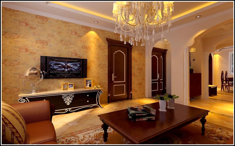 铁西万达广场-三居室-147㎡-客厅装修效果图