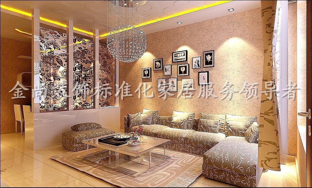 88平3室2厅 现代简约风格装修案例 预算6万元高清图片
