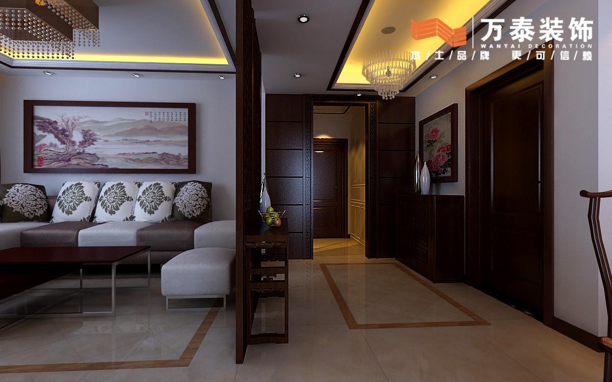 120平3室2厅 新中式风格装修案例 预算7万元图片