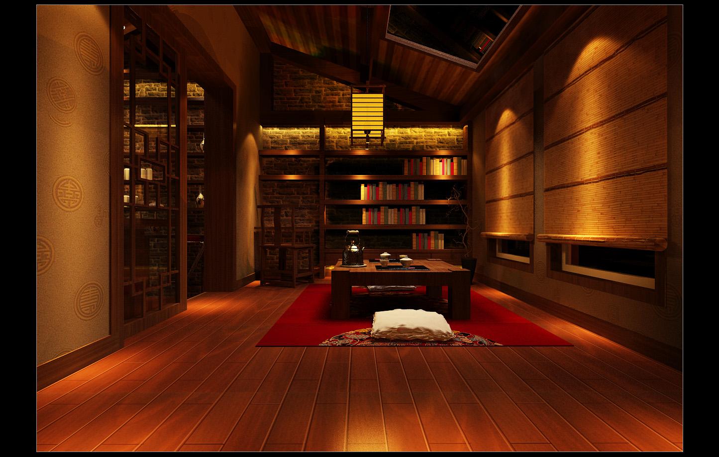 88平3室2厅 中式古典风格装修案例 预算12万元高清图片