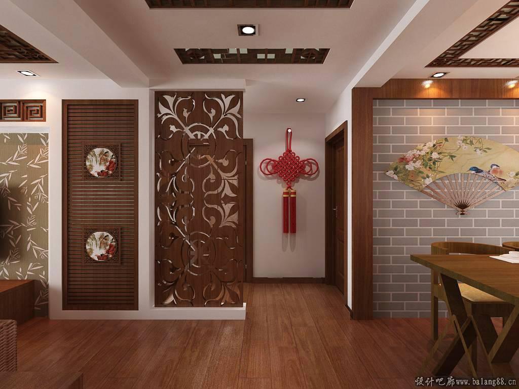 7克拉 50㎡ 复式中式客厅装修效果图图片 高清图片