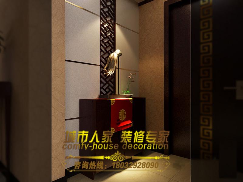 图片描述:十甫路小区-三居室-140.00㎡-玄关装修效果图石家高清图片
