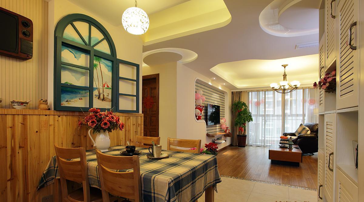 衣柜风格三居室装修效果图120平米12万田园田园三居室西安整体三森风格哪家的好图片