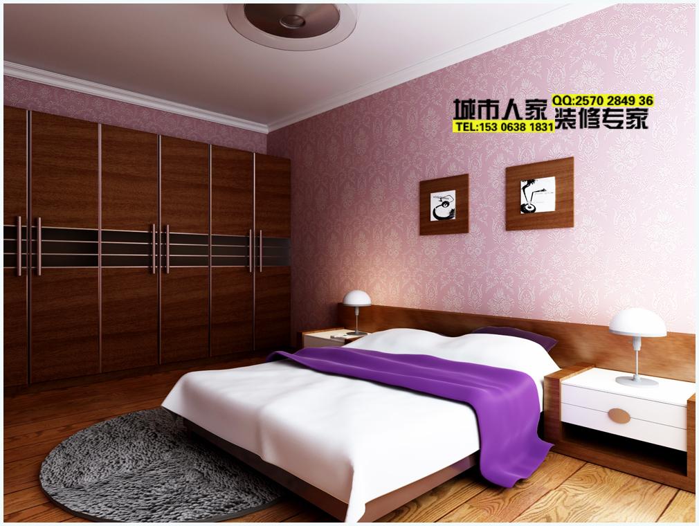 卧室效果图,衣柜中式色彩