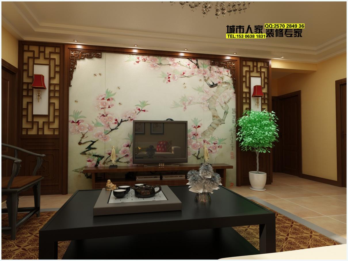 客厅电视背景墙、茶几..