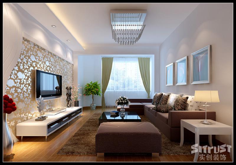 唐山实创装饰 唐山金色雅居 客厅