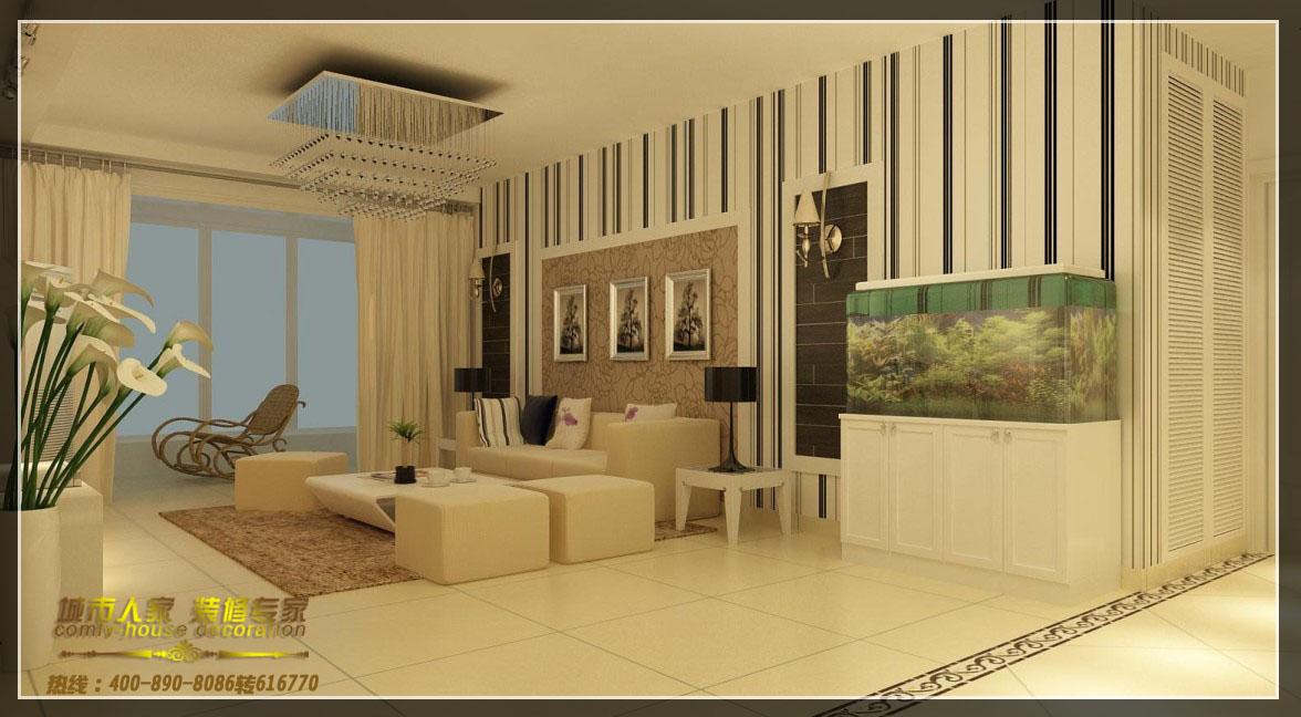 黑色的皮纹砖与精美的壁灯,石膏线的勾勒形成边框,舒适的沙发和阳台处图片