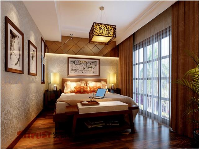 中式古典五居室卧室榻榻米装修效果图欣赏