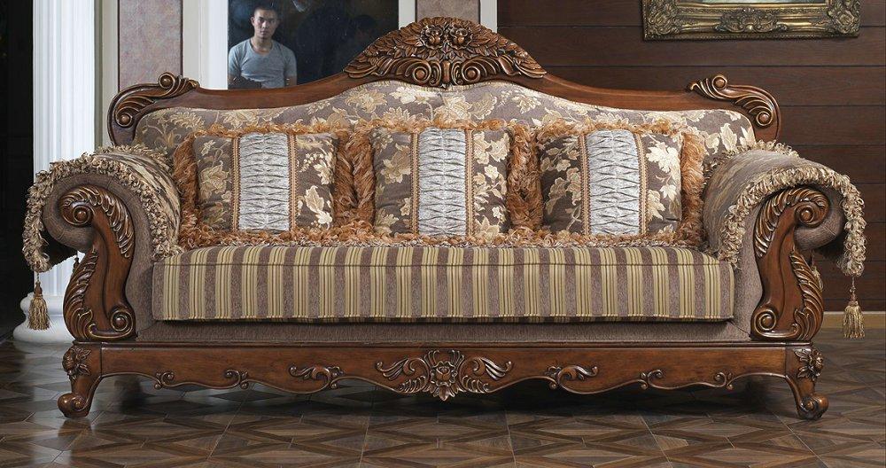 柏木之家lv601全实木布艺欧式大气沙发1 2 3