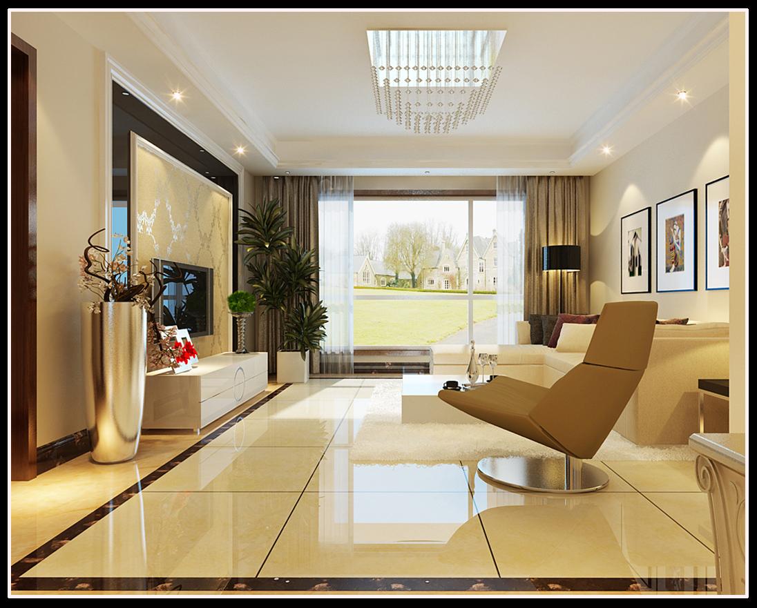客厅装修效果图-2014简欧设计大行其道 10套简欧风格装修案例欣赏高清图片