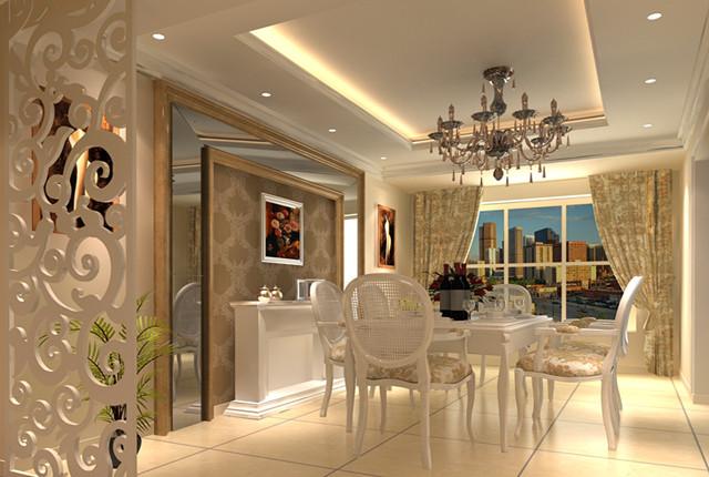 台湾村小区161平米奢华欧式风格——餐厅效果图