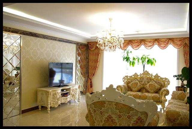 台湾村小区161平米奢华欧式风格——客厅实景毕业照