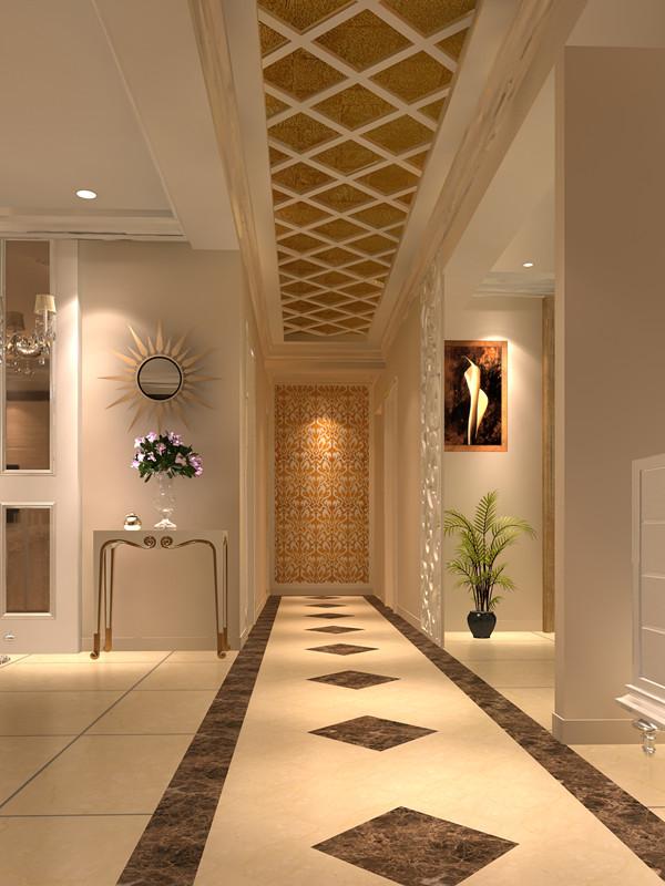 台湾村小区161平米奢华欧式风格——走廊效果图