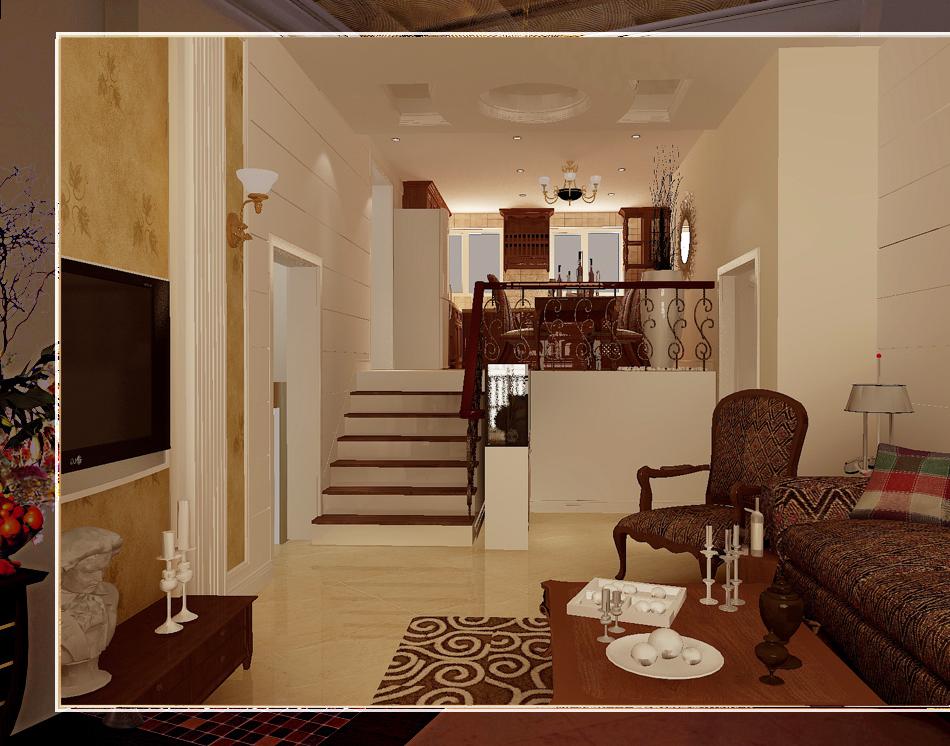平米-客厅装修效果图-2014简欧设计大行其道 10套简欧风格装修案例高清图片