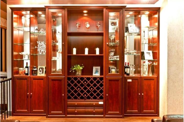 索菲亚衣柜定制组合酒柜实木装饰吧台家具