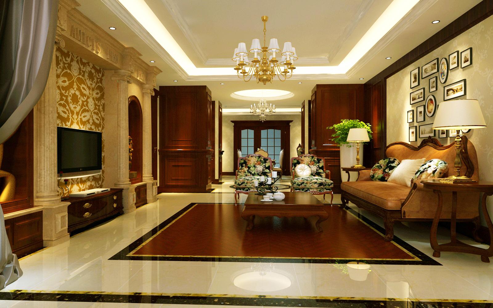 北京装修设计 >华茂城-新中式-二居室装修效果图图片