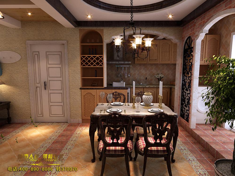 61㎡-餐厅 金隅观澜时代-四居室-138平米-餐厅装修效果图 泰式别墅图片