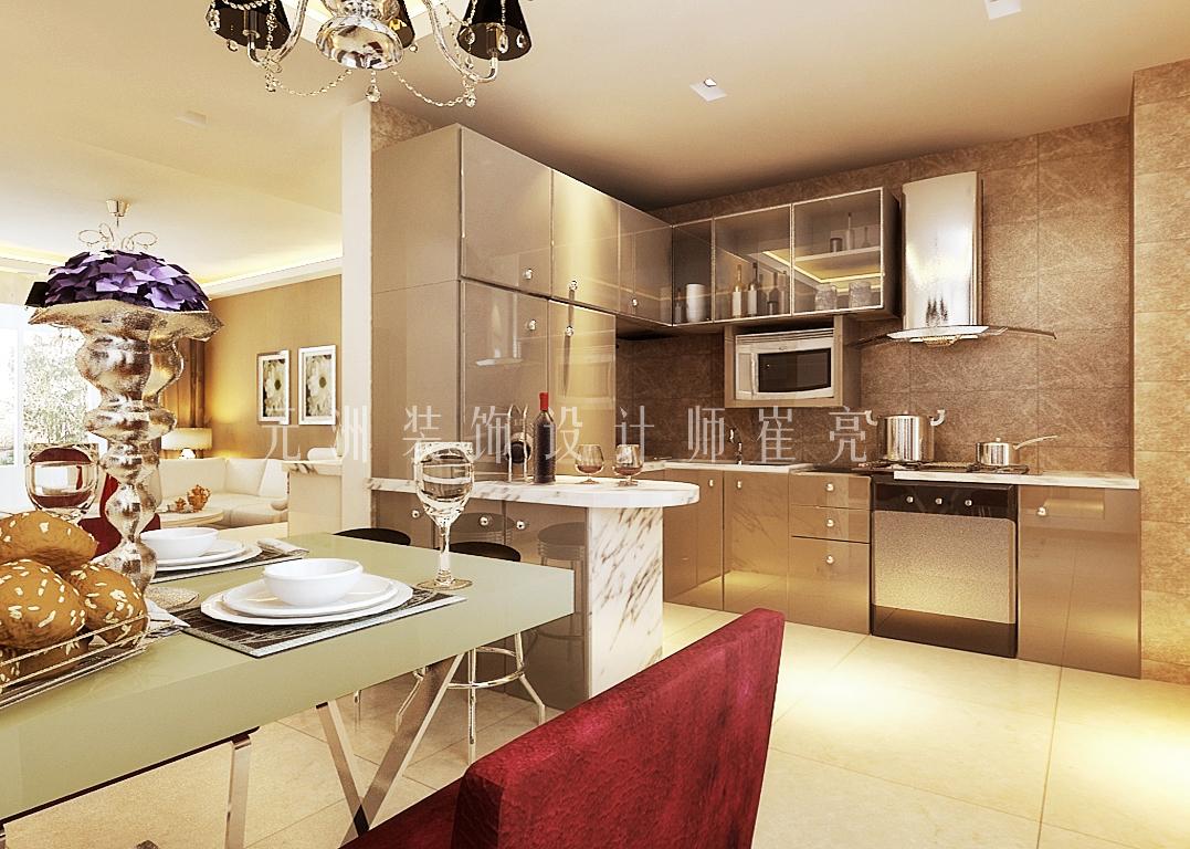 时代奥城酒店式公寓-混合型风格-三居室-装修案例