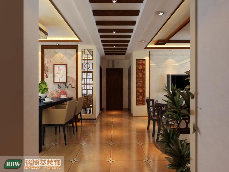 四走是木线条,两边是实木雕花,沙发背景墙和电视背景墙相呼高清图片