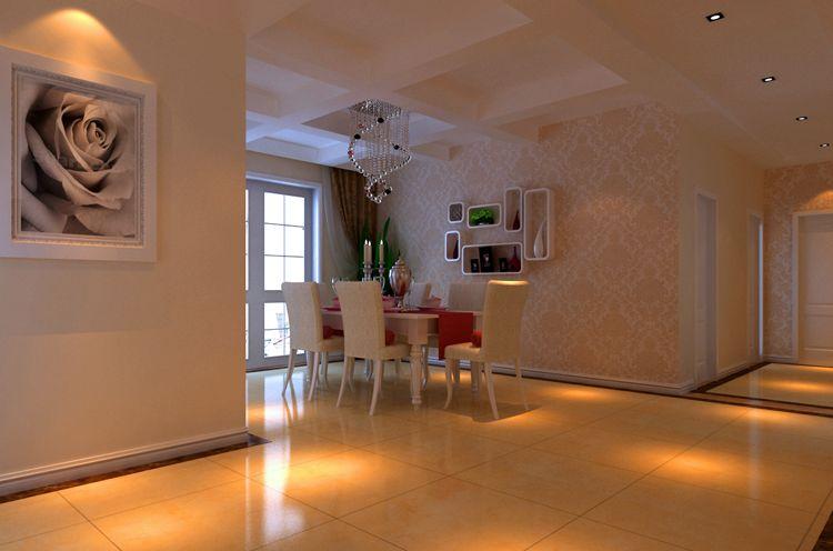 龙山广三居室装修效果图大全 现代简约白色清新 高清图片