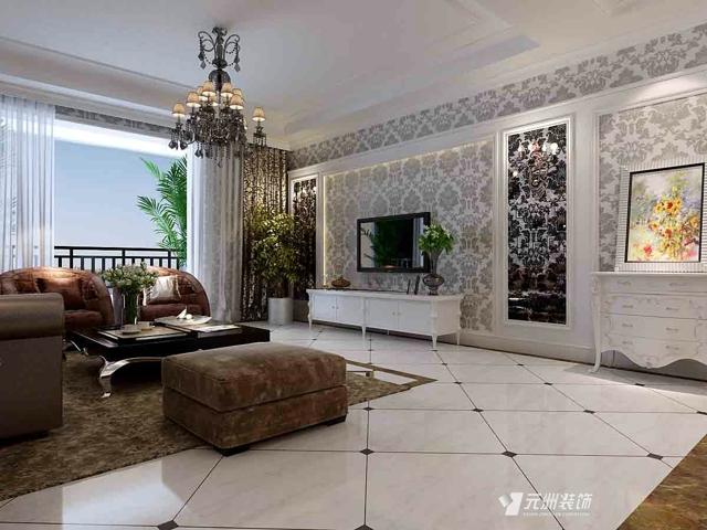 太原小店区龙城新居设计案例 -龙城新居 简欧
