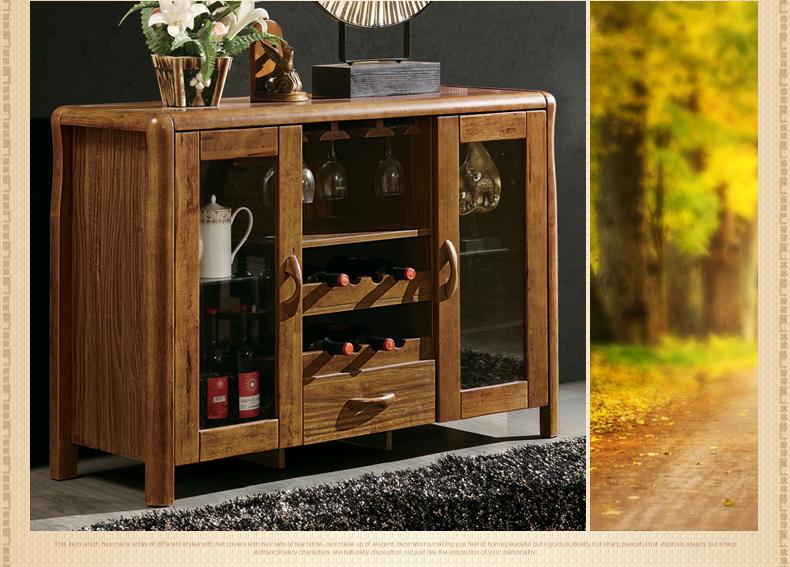 居客 新中式餐边柜 现代中式实木餐厅柜子 储物碗柜 801图片