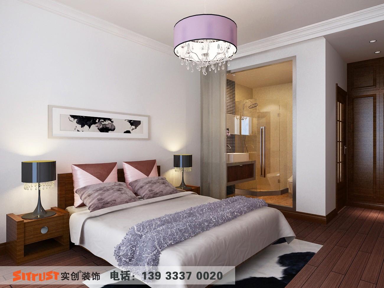 亮点:温和的色彩让卧室更加温馨。