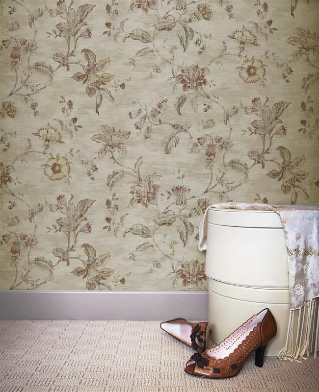 美式经典 纯纸壁纸 客厅卧室 满铺 复古风格
