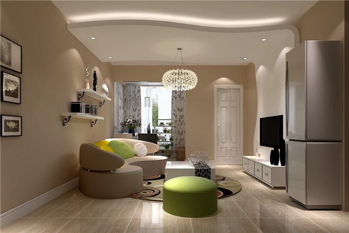 江南山水-一居室-60.00平米-客厅装修效果图