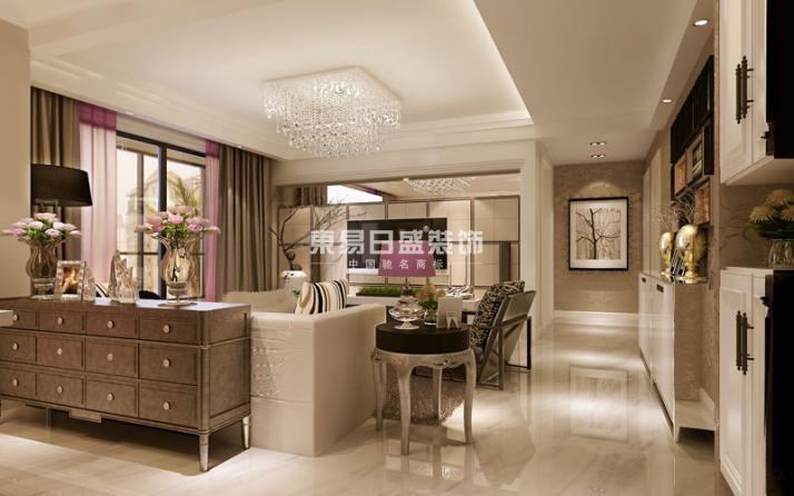 永威翡翠城-三居室-130.00平米-客厅装修效果图高清图片