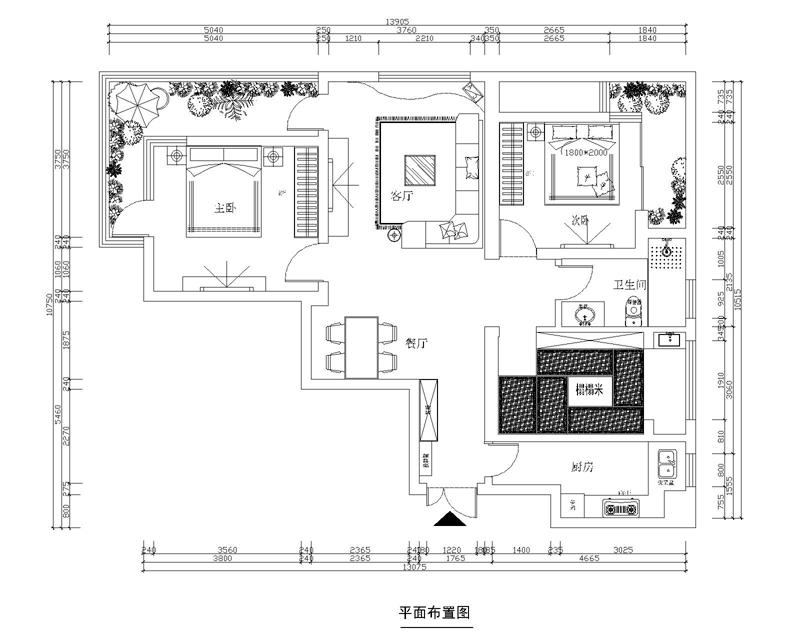 绿城西子公寓三居室102平装修设计 照片强彰显品位