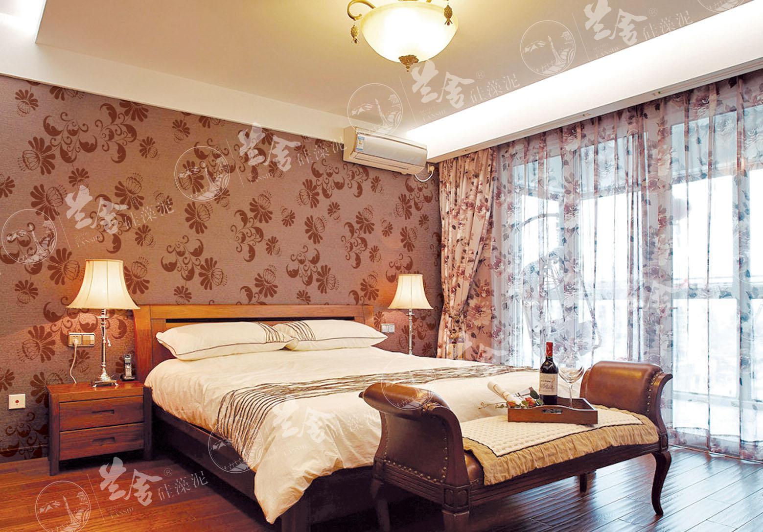 暗纹硅藻泥沙发背景墙图片_精选图集家装秀-中华硅藻泥网